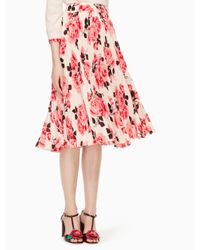 kate spade new york | Pink Rosa Pleated Skirt | Lyst