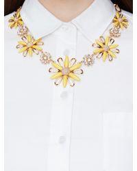 kate spade new york - Metallic Daisy Dreams Statement Necklace - Lyst
