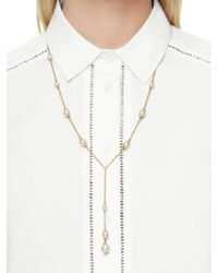 kate spade new york - Metallic Pearls Of Wisdom Y Necklace - Lyst