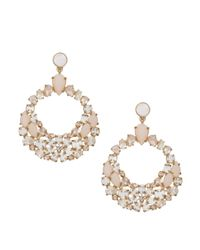 kate spade new york - Metallic At First Blush Statement Earrings - Lyst
