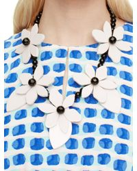 kate spade new york - Black Lovely Lilies Statement Necklace - Lyst
