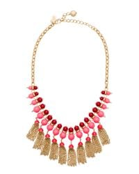 kate spade new york | Metallic That's A Wrap Tassel Necklace | Lyst