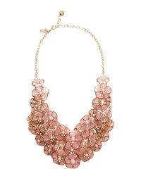 kate spade new york | Pink Sunset Blossoms Statement Necklace | Lyst