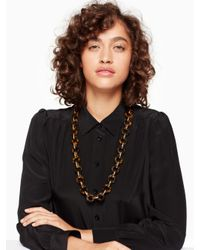 Kate Spade - Black Out Of Her Shell Long Necklace - Lyst