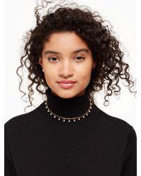 Kate Spade Metallic Chantilly Charm Collar Necklace