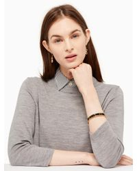 kate spade new york - Multicolor Cool Cat Hinged Idiom Bangle - Lyst