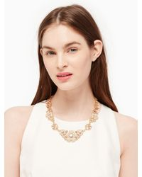 kate spade new york - Metallic Posy Petals Statement Necklace - Lyst