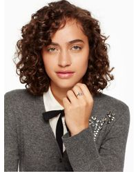 kate spade new york - Metallic It's A Tie Bow Ring - Lyst