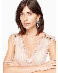 kate spade new york - Multicolor Midnight Rose Linear Rose Drop Earrings - Lyst