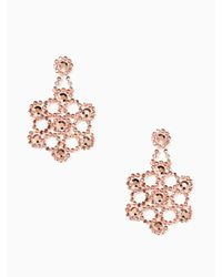 Kate Spade | Metallic Crystal Lace Statement Earrings | Lyst