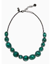 kate spade new york   Green Absolute Sparkle Necklace   Lyst