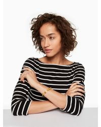 kate spade new york - Yellow Tag Along Cuff - Lyst