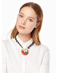 kate spade new york - Multicolor Citrus Crush Short Necklace - Lyst