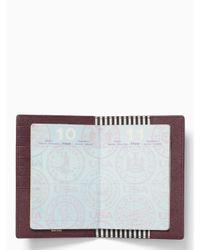 Kate Spade | Purple Cameron Street Travel Passport Holder | Lyst