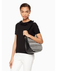 Kate Spade - Black Cobble Hill Straw Mylie - Lyst