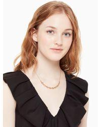 Kate Spade - Metallic Chain Reaction Link Mini Necklace - Lyst