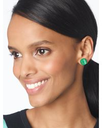 Kate Spade Green Earrings Small Square Studs