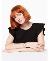 Kate Spade - Multicolor New Oval Case Oval Case Stainless Steel Bracelet - Lyst