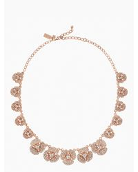 Kate Spade Pink Disco Pansy Single Strand Short Necklace
