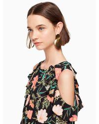Kate Spade Metallic Gold Standard Double Drop Earrings