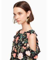 Kate Spade - Metallic Gold Standard Double Drop Earrings - Lyst