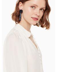 Kate Spade - Multicolor Artisanal Rose Linear Earrings - Lyst