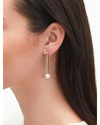 Kate Spade Multicolor Precious Pearls Linear Earrings
