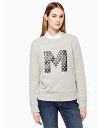 Kate Spade - Gray Initial Sweatshirt - Lyst