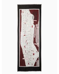 Kate Spade - Multicolor New York Map Oblong Scarf - Lyst