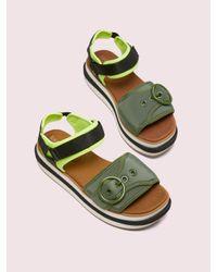 Kate Spade Green Cozumel Flatform Sandals