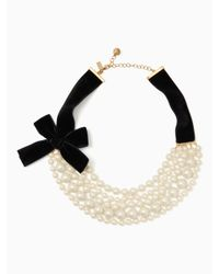 Kate Spade - Multicolor Girls In Pearls Necklace - Lyst