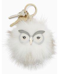Kate Spade Multicolor Snowy Owl Pouf