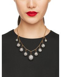 kate spade new york - Metallic Disco Fever Bauble Necklace - Lyst