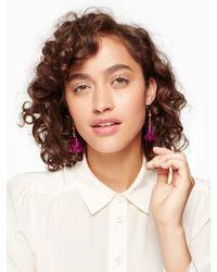 kate spade new york - Purple Swing Time Tassel Drop Earrings - Lyst