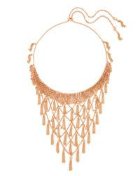 Kendra Scott - Metallic Georgina Statement Necklace In Rose Gold - Lyst