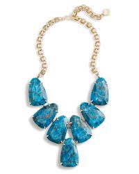 Kendra Scott - Blue Harlow Statement Necklace In Aqua Apatite - Lyst