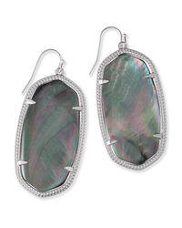 Kendra Scott - Metallic Danielle Silver Statement Earrings - Lyst