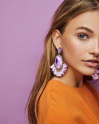 Kendra Scott Blue Cristina Statement Earrings