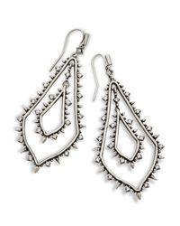 Kendra Scott - Metallic Alice Statement Earrings - Lyst
