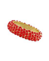 Kenneth Jay Lane | Pink Coral Cabochon Bracelet | Lyst
