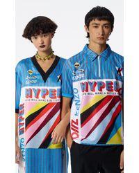 KENZO Blue 'hyper ' T-shirt Dress