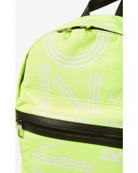 Large Logo backpack KENZO en coloris Yellow
