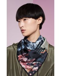 KENZO | Multicolor Silk Floral Scarf | Lyst