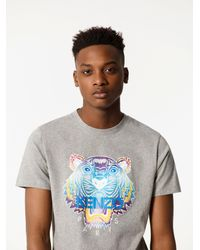 KENZO | Gray Rainbow Tiger T-shirt for Men | Lyst