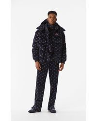KENZO Black 'may Flowers' Down Jacket for men