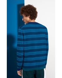 KENZO Blue Silicon Tiger Sweater for men