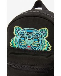 KENZO Black Mini Tiger Canvas Backpack
