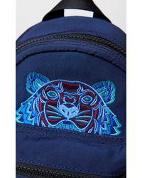 KENZO Blue Mini Tiger Canvas Backpack