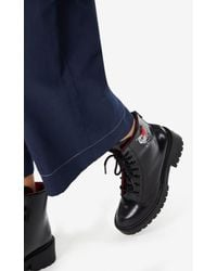 KENZO Black Pike-Stiefel 'Lucky Tiger'