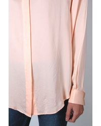 Acne - Pink Patti Bamboo Button Down - Lyst